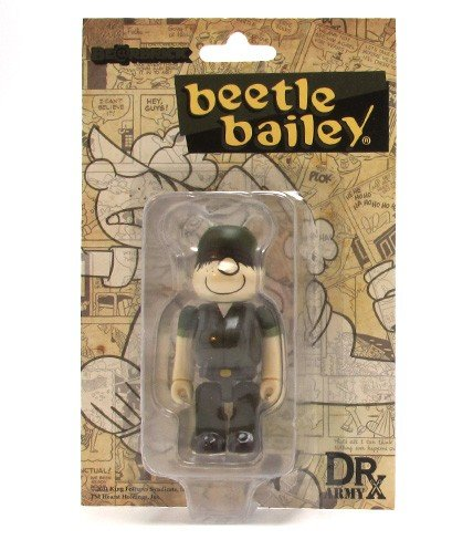 DRx Army Beetle Bailey Be@rbrick 100% figure by Dr. Romanelli, produced by Medicom Toy. Packaging.