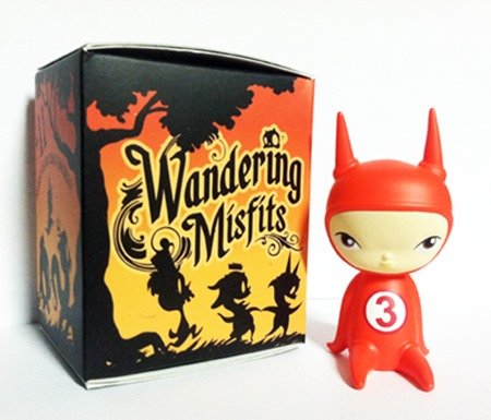 Wandering Misfits - Ash, MSX Toy Art Gallery Exclusive figure by Brandt Peters X Kathie Olivas, produced by Cardboard Spaceship. Packaging.
