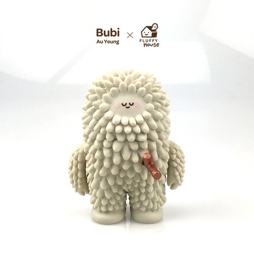 10th Anniversary Treeson figure by Bubi Au Yeung, produced by Fluffy House. Front view.
