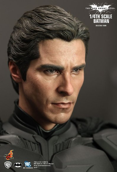 1/4th Scale The Dark Knight Rises Batman figure by Kojun, produced by Hot Toys. Detail view.