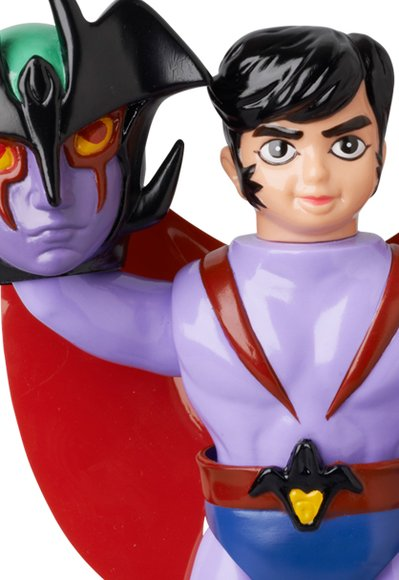 1972 Devilman figure, produced by Medicom Toy. Detail view.