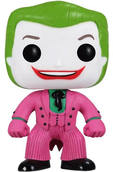 POP! Heroes - The Joker 1966 figure by Dc Comics, produced by Funko. Front view.