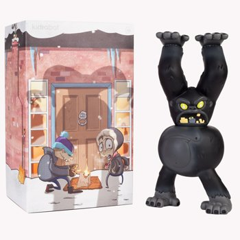 Yeti - Black figure by Eric Pause, produced by Kidrobot. Packaging.