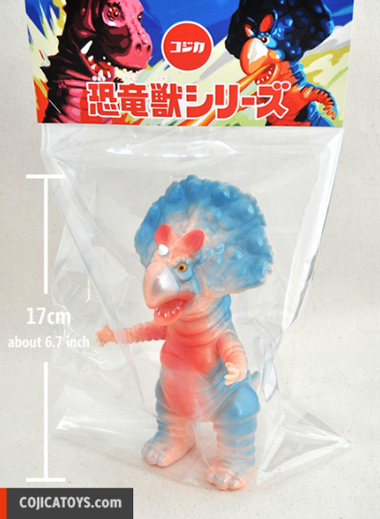 Monoclon – American Cherry figure by Hiramoto Kaiju, produced by Cojica Toys. Packaging.