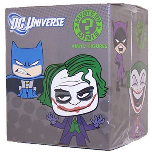 The Joker figure by Dc Comics, produced by Funko. Packaging.