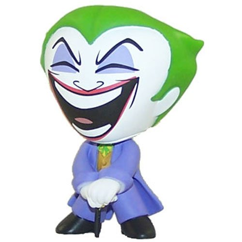 The Joker figure by Dc Comics, produced by Funko. Front view.