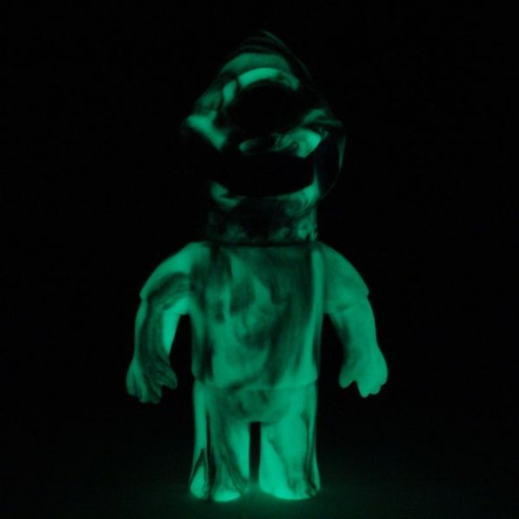 Double Trouble Zagarad figure by Gargamel X Le Merde, produced by Super7. Front view.