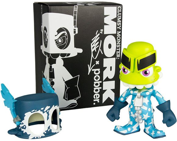 Mork - Hero figure by Jeremy Madl (Mad), produced by Pobber. Packaging.