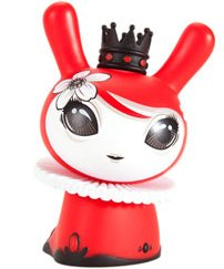Mayari Red Dunny - Kidrobot Exclusive figure by Otto Bjornik, produced by Kidrobot. Side view.