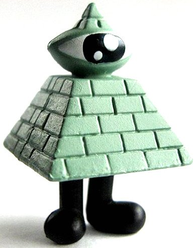 Secret Society figure by Jeremyville, produced by Kidrobot. Side view.