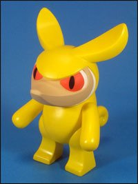 Snout: Strangeco Yellow figure by Touma, produced by Headlock Studio. Front view.