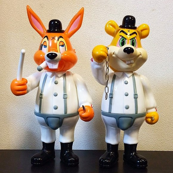 A Clockwork Carrot Dim - OG figure by Frank Kozik, produced by Blackbook Toy. Front view.