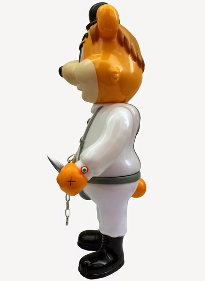 A Clockwork Carrot Dim - OG figure by Frank Kozik, produced by Blackbook Toy. Side view.