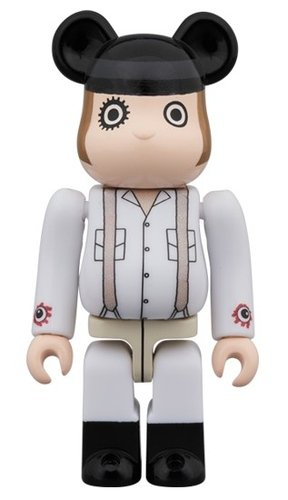 A CLOCKWORK ORANGE - ALEX BE@RBRICK 100% figure, produced by Medicom Toy. Front view.