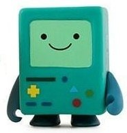 Adventure Time 3 Mini Series - BMO figure, produced by Kidrobot. Front view.