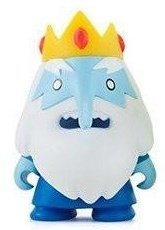 Adventure Time 3 Mini Series - Ice King figure, produced by Kidrobot. Front view.