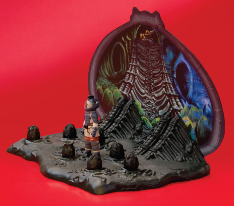 Alien Egg Chamber ReAction Playset - SDCC 2014 figure by Super7, produced by Super7. Side view.