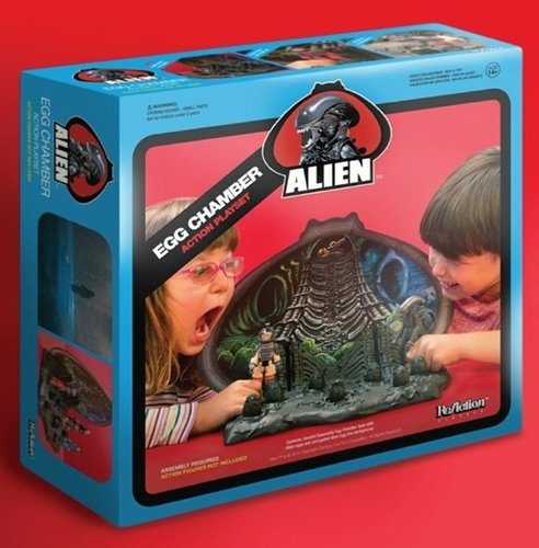 Alien Egg Chamber ReAction Playset - SDCC 2014 figure by Super7, produced by Super7. Front view.