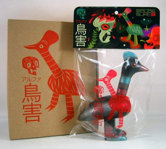 Alpha Gaichou - OG figure by Tim Biskup, produced by Toy2R. Packaging.