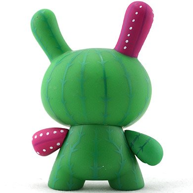 Cactus figure by Artemio, produced by Kidrobot. Back view.
