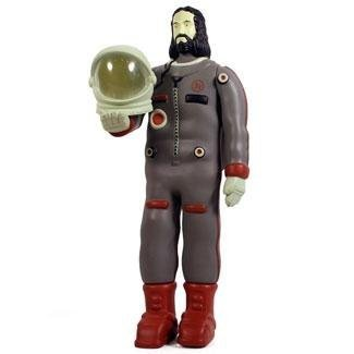 Astronaut Jesus - Grey figure by Doma, produced by Adfunture. Front view.