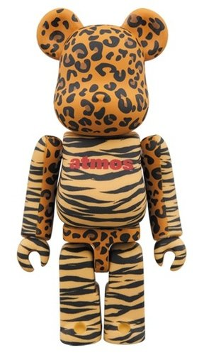 atmos ANIMAL BE@RBRICK 100% figure, produced by Medicom Toy. Front view.