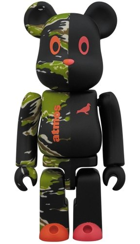 atmos × STAPLE #2 BE@RBRICK 100% figure, produced by Medicom Toy. Front view.