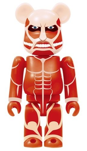 Attack on Titan - Colossal Titan BE@RBRICK figure, produced by Medicom Toy. Front view.