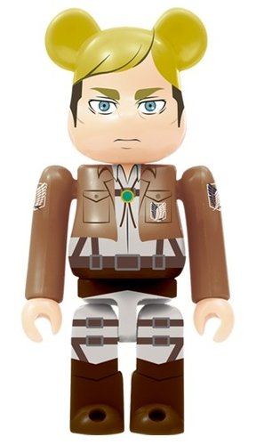 Attack on Titan - Erwin Smith BE@RBRICK figure, produced by Medicom Toy. Front view.