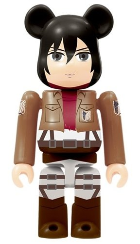 Attack on Titan - Mikasa Ackerman BE@RBRICK figure, produced by Medicom Toy. Front view.
