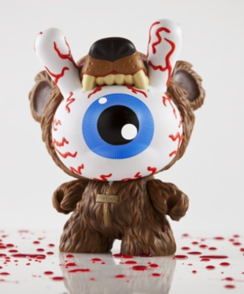 Bad News Dunny - Kodiak Edition figure by Mishka, produced by Kidrobot. Front view.