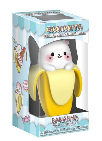 Bananya figure, produced by Funko. Packaging.