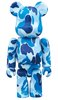 BAPE-ABC Blue BE@RBRICK 100%