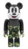 BAPE MICKEY MOUSE - GREEN BE@RBRICK 100%