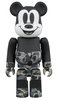 BAPE MICKEY MOUSE MONOTONE Ver. BE@RBRICK 100%