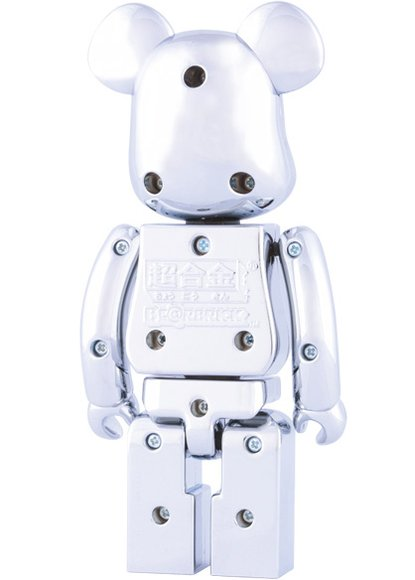 Be@rbrick 200% Chrome figure, produced by Medicom Toy X Bandai. Back view.