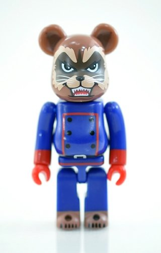 BE@RBRICK 29 - SECRET (MARVEL Rocket Raccoon) figure, produced by Medicom Toy. Front view.