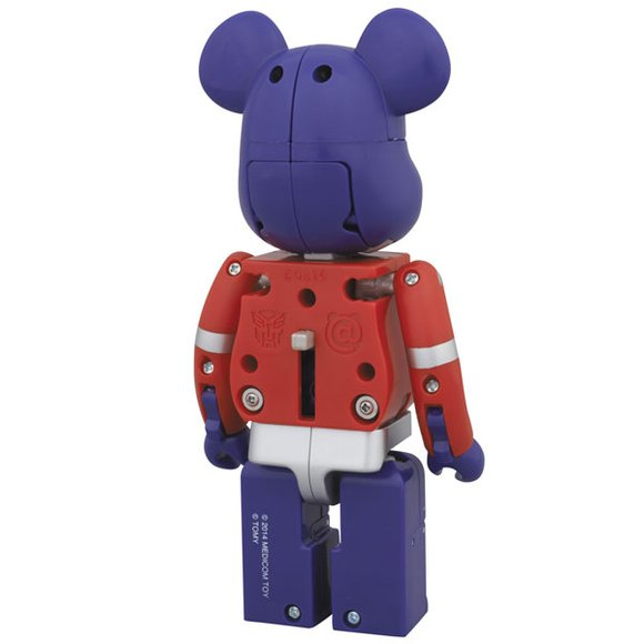 BE@RBRICK × TRANSFORMERS - OPTIMUS PRIME figure by Takara Tomy, produced by Medicom Toy. Back view.