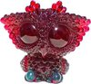 Biggy Owl - Teal / Red Glitter