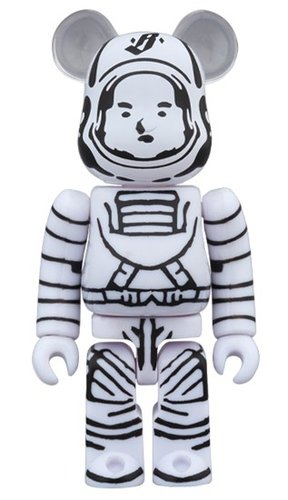 BILLIONAIRE BOYS CLUB ASTRONAUT BE@RBRICK 100% figure, produced by Medicom Toy. Front view.