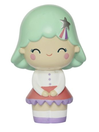 Birthday Girl (Mint) figure by Luli Bunny, produced by Momiji. Front view.