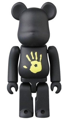 Black Pean BE@RBRICK 100% figure, produced by Medicom Toy. Front view.