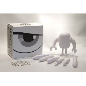 Blank Sketchbot  figure by Steve Talkowski, produced by Solid. Packaging.