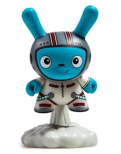 Blast Off (White) figure by The Bots, produced by Kidrobot. Front view.