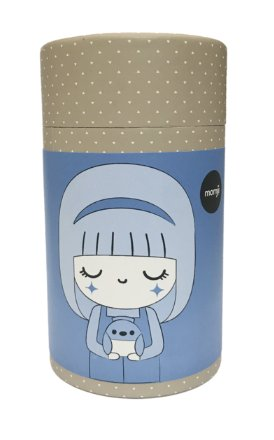 Bluebird figure by Luli Bunny, produced by Momiji. Packaging.