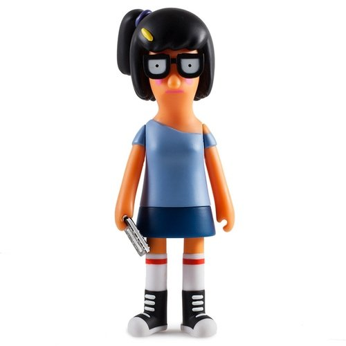 Bobs Burgers Bad Tina Belcher figure, produced by Kidrobot. Front view.