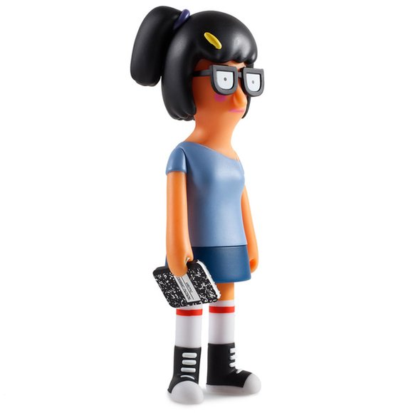 Bobs Burgers Bad Tina Belcher figure, produced by Kidrobot. Side view.
