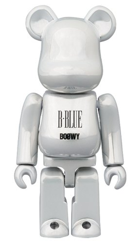 "BOOWY ""B・BLUE"" BE@RBRICK 100% figure, produced by Medicom Toy. Front view."