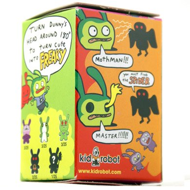 Mabus figure by David Horvath, produced by Kidrobot. Packaging.