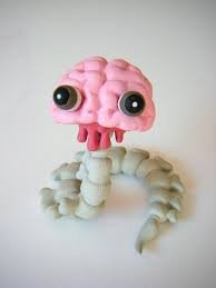 Brain-san figure by Junko Mizuno, produced by Kidrobot. Front view.